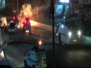Şırnak'ta PKK'lı Eylemcilere Polis Müdahalesi