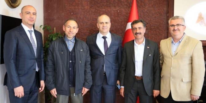 Emniyet Müdürü Artunay, Belediye Başkanı Süslü'yü ziyaret etti