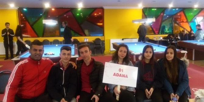 Şehit Zafer Sabancı Lisesi bilardoda Türkiye 7 ve 8'incisi oldu