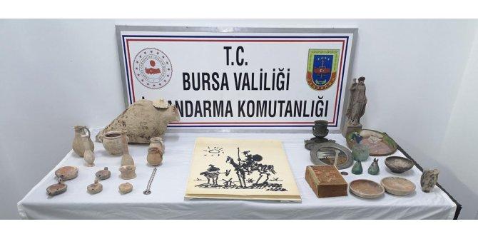 Bursa'da tarihi eser satıcılarına operasyon