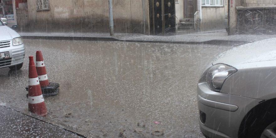 Ağrı'da dolu yağışı etkili oldu