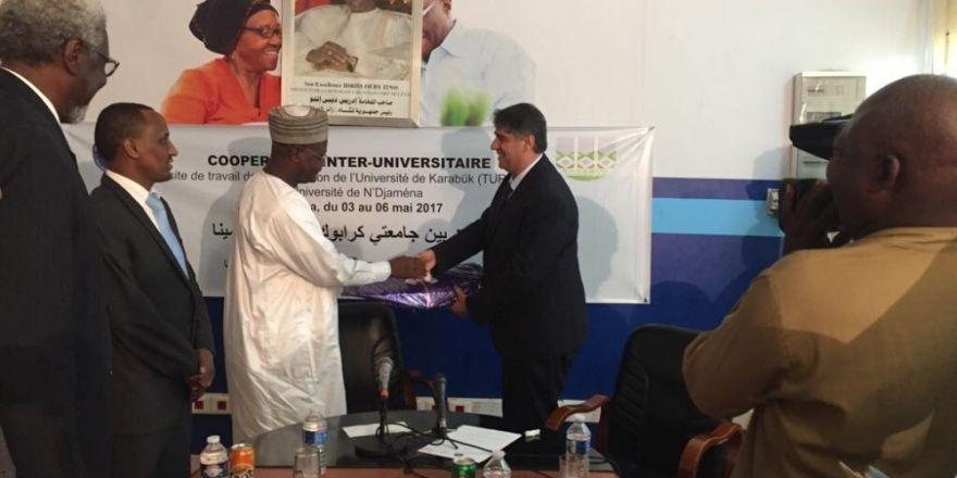 Rektör Polat'ın başkanlığını yaptığı KBÜ heyeti Çad'da