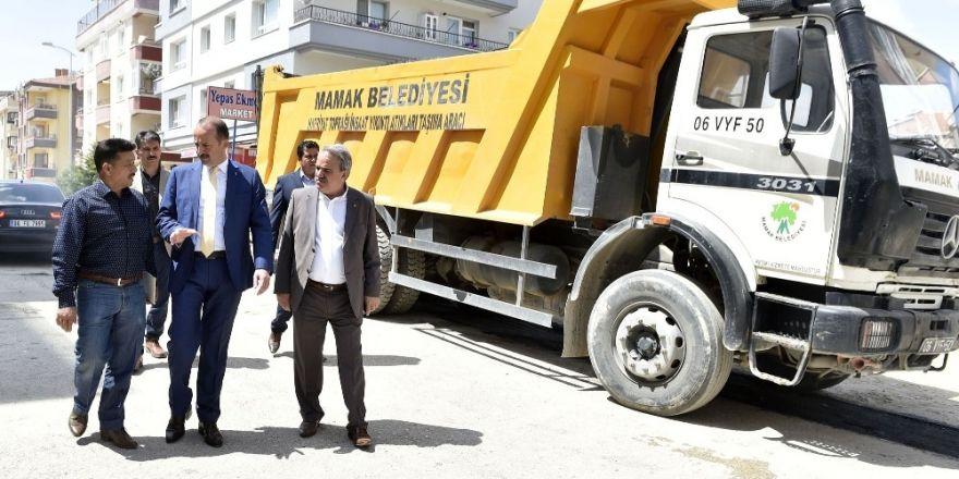 Başkan Akgül çalışmaları yerinde inceledi