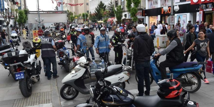 İsmetpaşa'ya bisiklet ve motosikletle girenlere ceza yağdı