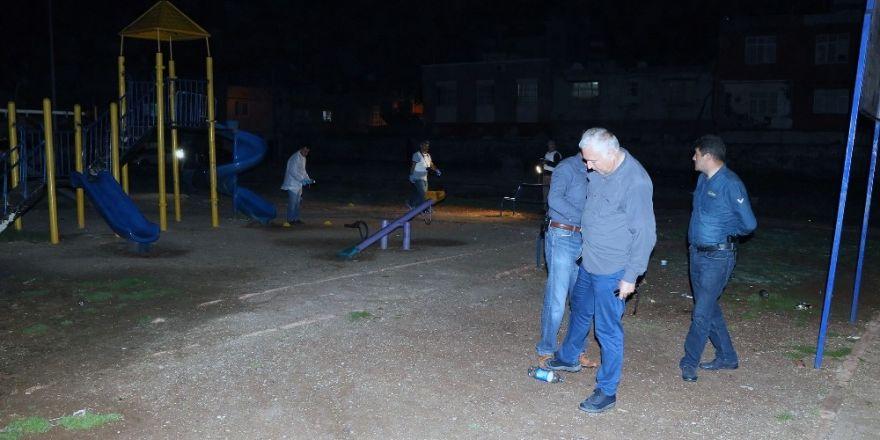 Uyuşturucu bağımlıları çocuk parkında EYP patlattı