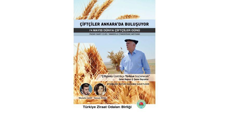 Çiftçiler Ankara'da buluşuyor