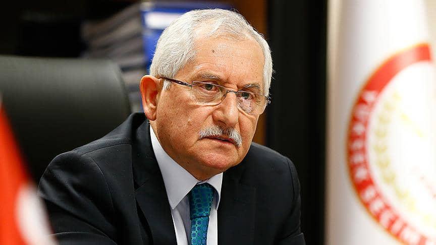 YSK Başkanı Sadi Güven Seçmen listelerinde güncelleme yapılmayacak