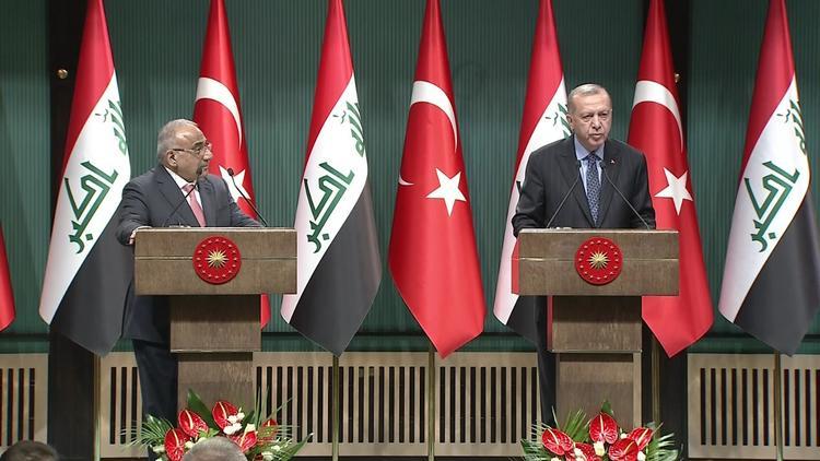 Cumhurbaşkanı Erdoğan, Irak Başbakanı ile Ankara'da açıklamalarda bulundu