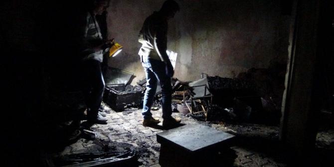 Gercüş'te arılı kovanlar yangında kül oldu