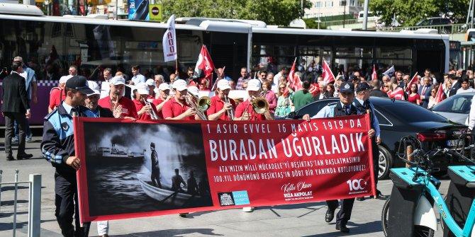 Beşiktaş'ta 19 Mayıs 100'üncü yıl etkinliğinde renkli görüntüler...