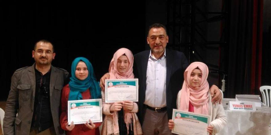 Hisarcık Seydi Resul İmam Hatip Ortaokulu bilgi yarışmasında 4.oldu
