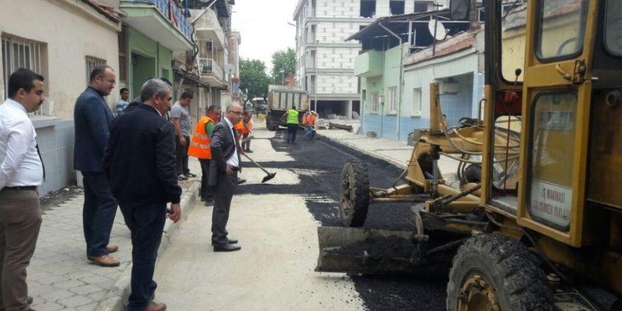 Başkan Kayda, asfalt çalışmalarını yerinde inceledi
