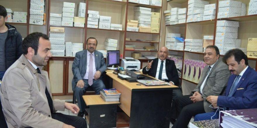 Prof. Dr. Ilıcalı'dan Matbaa, Kırtasiye ve Tabelacılar Odası'na ziyaret