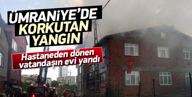 Hastaneden dönen vatandaşın evi yandı