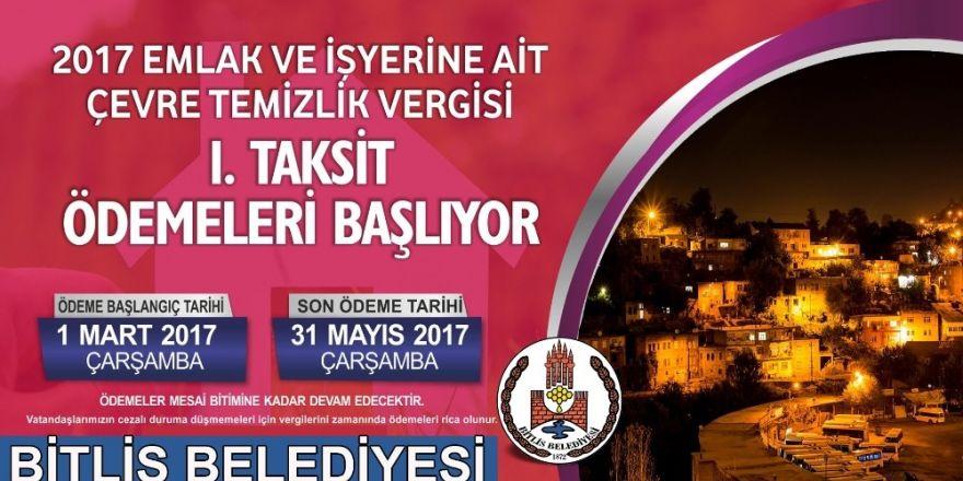 Bitlis Belediyesinden borç hatırlatması