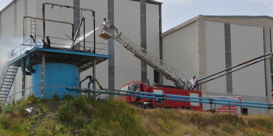 Aliağa'daki yağ fabrikasında yangın