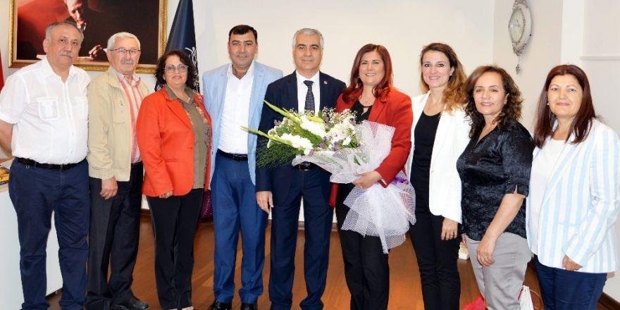 CHP il yönetiminden Başkan Çerçioğlu'na teşekkür ziyareti