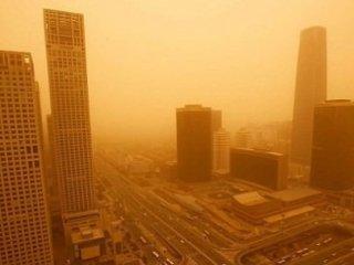 Çin'de Kum Fırtınası