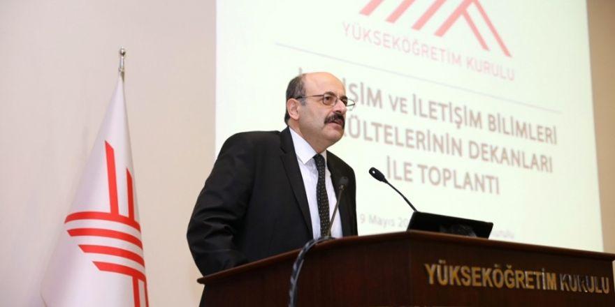 YÖK'te iletişim ve iletişim fakültelerinin dekanları ile toplantı düzenlendi