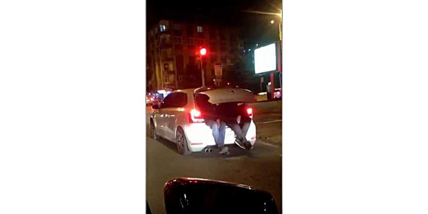 Kayseri trafiğinde ilginç görüntü