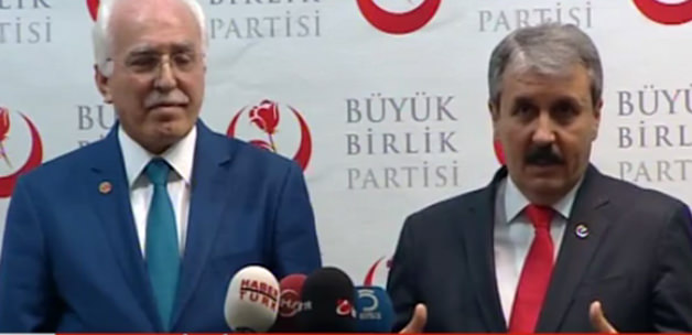 Saadet Partisi ve Büyük Birlik Partisi'nden Flaş İtifak Açıklaması