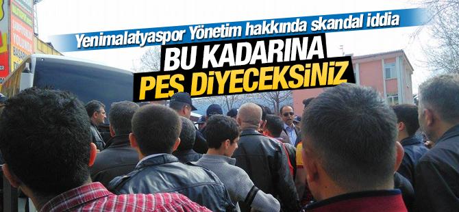 Yenimalatyaspor Yönetimi Hakkında Skandal İddia