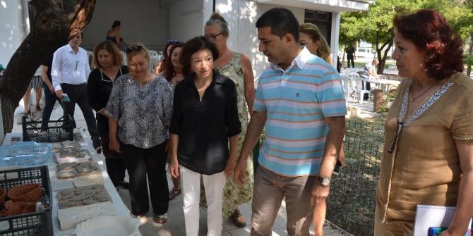 Başkan Günel, kadın girişimi kooperatifini ziyaret etti