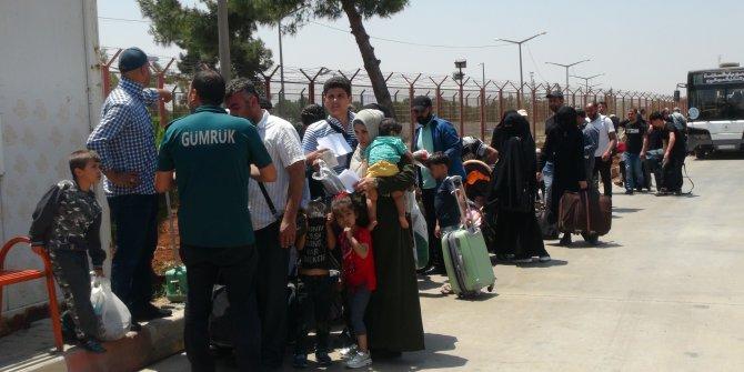 Kilis'te Suriyelilerin bayram dönüşleri sürüyor