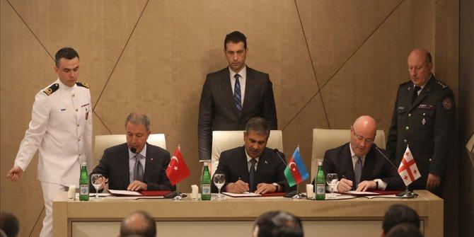 Azerbaycan-Türkiye-Gürcistan Üçlü Toplantısıyla ilgili protokol imzalandı