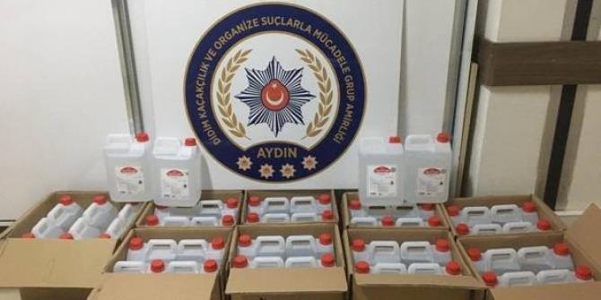 Didim'de 210 litre etil alkol yakalandı