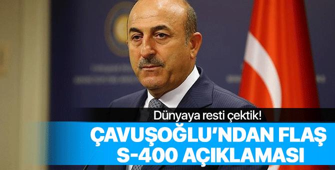 Çavuşoğlu'ndan flaş S-400 açıklaması!