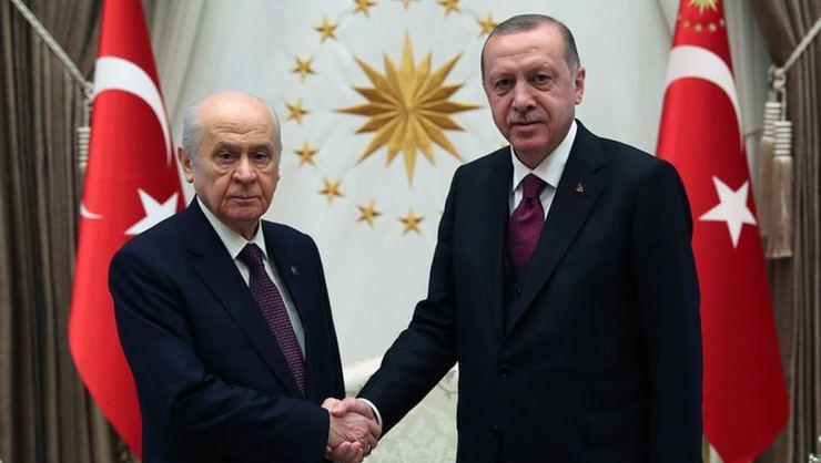 Cumhurbaşkanı Erdoğan ile Bahçeli görüşmesi başladı!