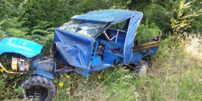 Pervari'de tarım aracı devrildi: 1 ölü, 2 yaralı