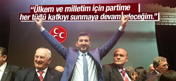 Murat Şahin, Ülkem ve milletim için partime her türlü katkıyı sunmaya devam edeceğim