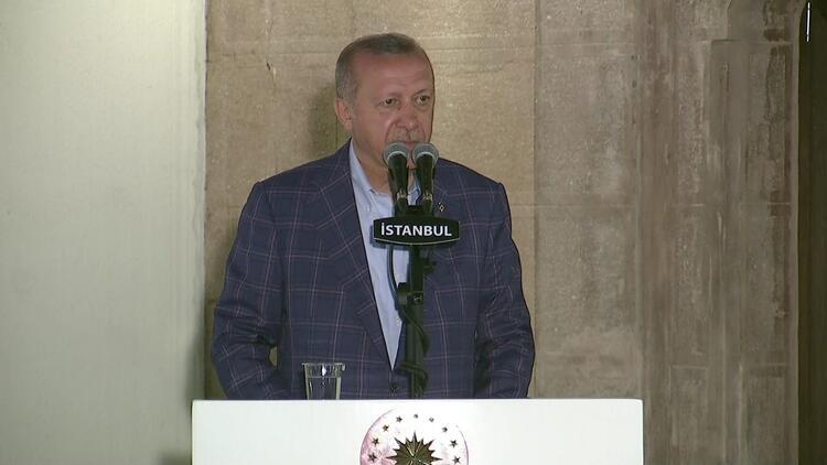 Cumhurbaşkanı Erdoğan, Trabzon Yaşlıları Koruma Derneği akşam yemeğinde konuştu
