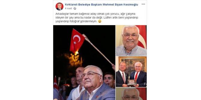 Belediye Başkanı yaşlandırılmış fotoğraflarına isyan etti