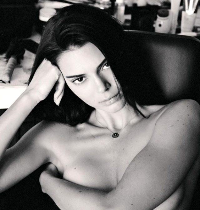 Kendall Jenner çırılçıplak soyundu Mert Alaş çekti