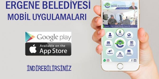 Ergene Belediyesi mobil uygulama ile artık ceplerde