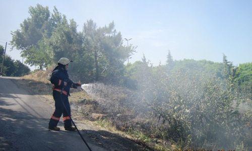 Boş Alanda Çıkan Yangın Korkuttu