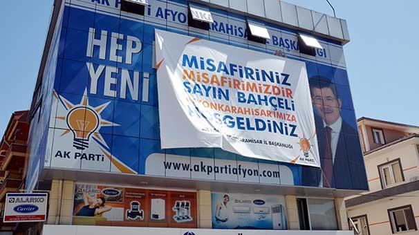 Afyonkarahisar AK Parti İl Başkanlığından Devlet Bahçeli için hoş geldin afişi