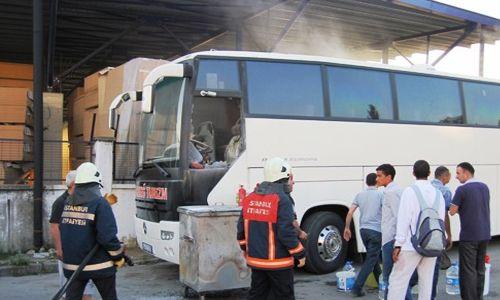 Kartal´da Otobüs Yangını