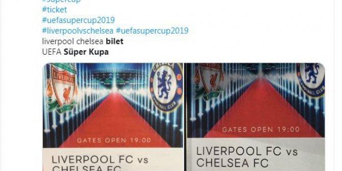 Süper Kupa maçının 150 Euro'luk bileti 22 bin liraya karaborsada