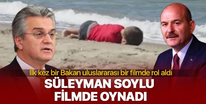 Süleyman Soylu Aylan Bebek filminde oynadı
