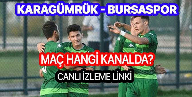Karagümrük Bursaspor maçı hangi kanalda | Karagümrük Bursaspor canlı izleme linki