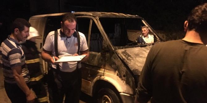 Ulaş'ta araç yangını