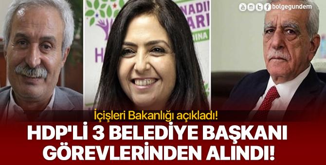 Son dakika...! HDP'li 3 belediye başkanı görevlerinden uzaklaştırıldı