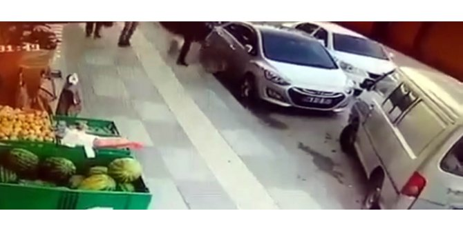 Sokak köpeğine tekme atıp, müdahale etmiş