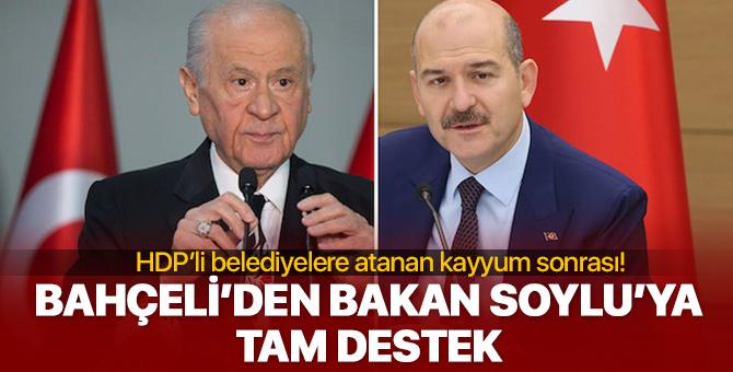 Devlet Bahçeli'den HDP'li belediyelere kayyum atamasına tam destek!