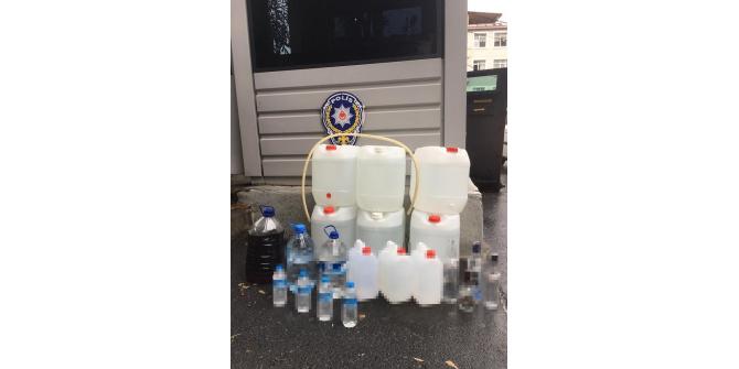 Fatih'te sahte alkol operasyonu