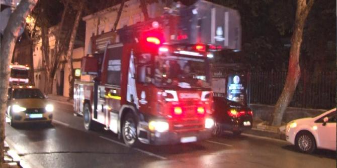 Galatasaray Üniversitesinde çıkan yangın panik oluşturdu